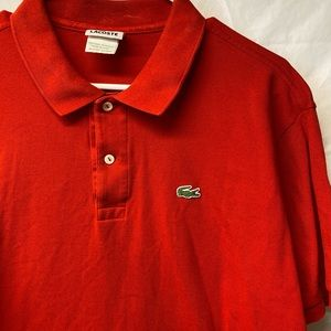 Lacoste Red Polo Shirt